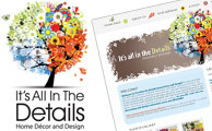 It's All in the Details Logo, Branding and Website