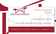 Interpreting Services Network Logo and Business Cards