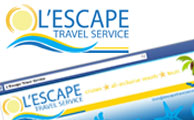 L'Escape Travel Logo | Business Cards | Social Media